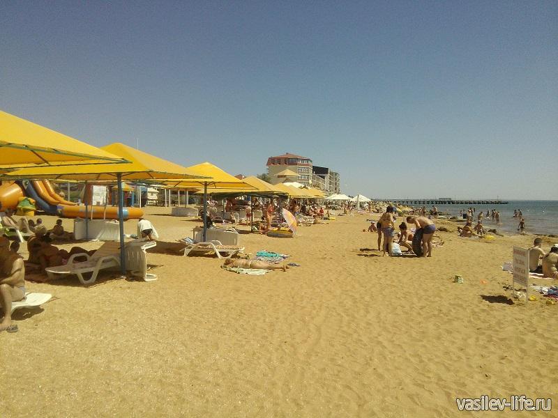 Развитая инфраструктура пляжа