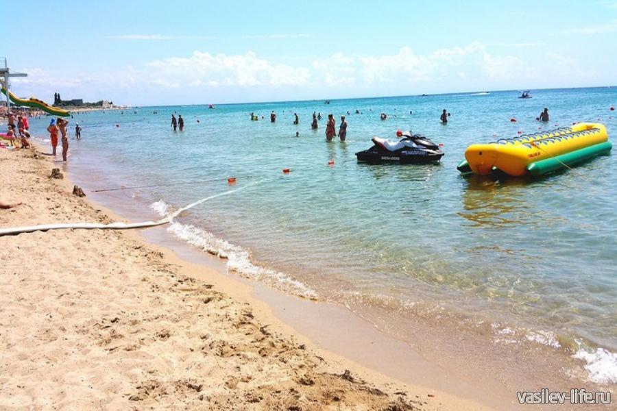 Автокемпинг «Лазурный берег» Евпатория, водные развлечения