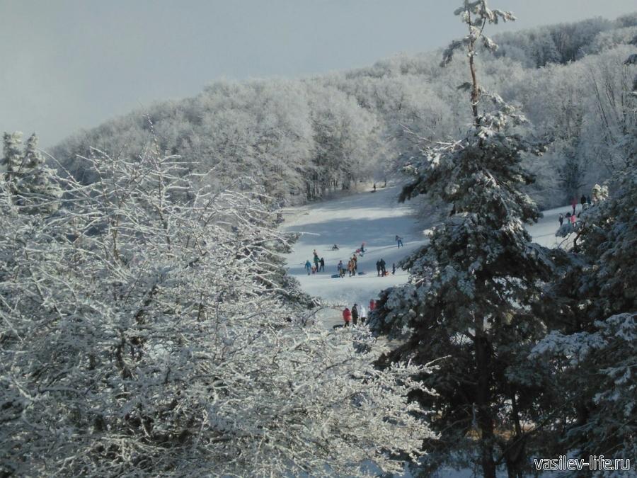 Ангарский перевал в январе