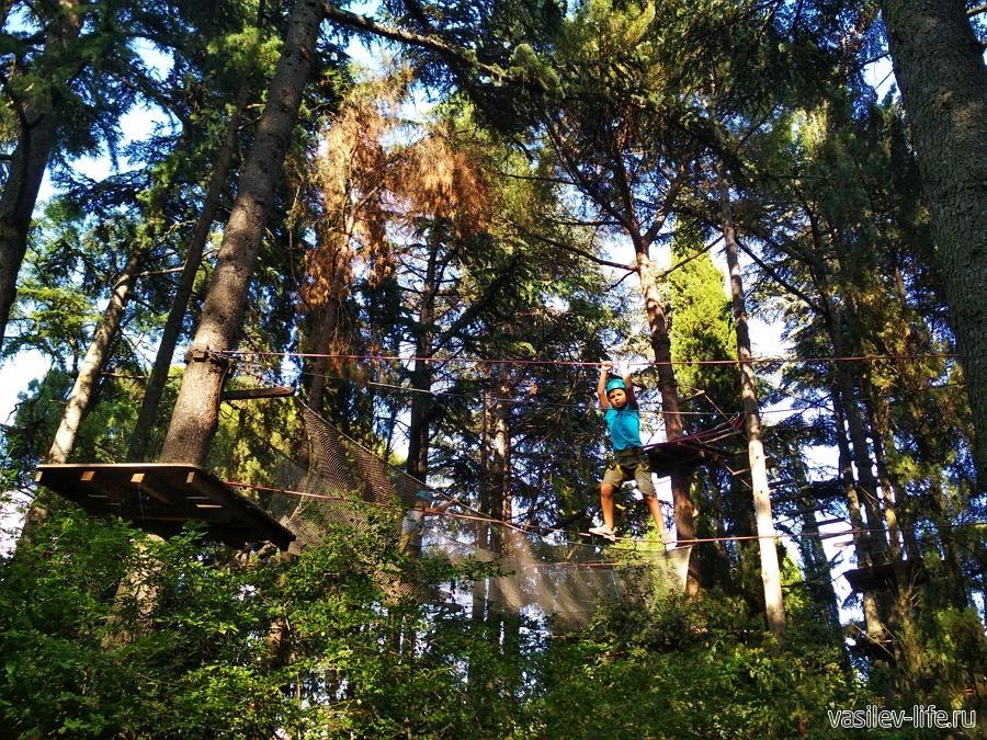 Веревочный парк в Приморском парке Ялты