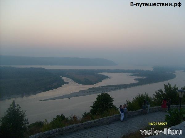 Вид на Жигулевские горы с вертолетки