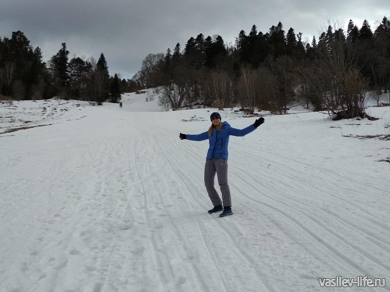 Горка для лыжников