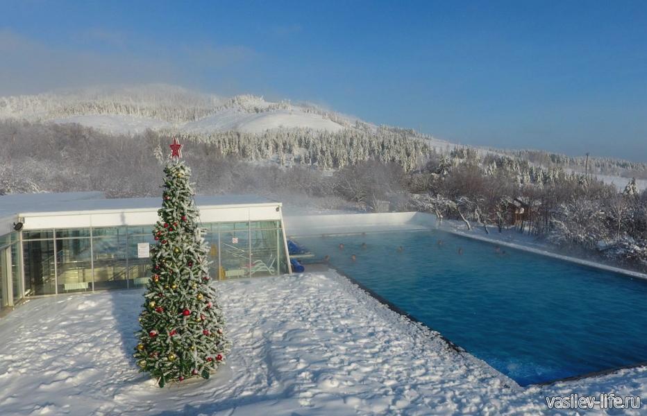 Горнолыжный курорт «Хвалынский», бассейн с термальной водой