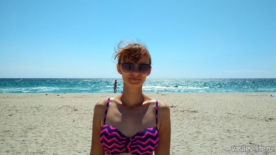 Дикий пляж на озере Донузлав