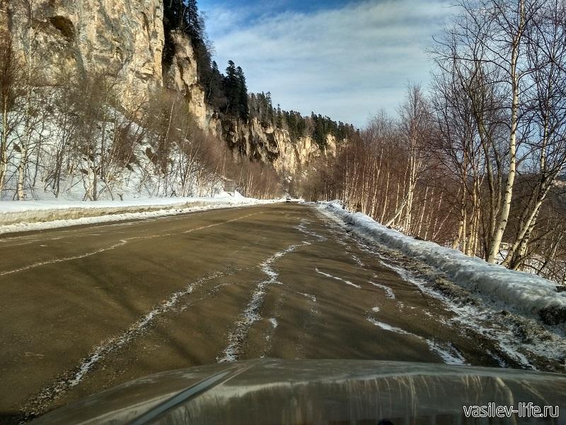 Дорога на базу отдыха