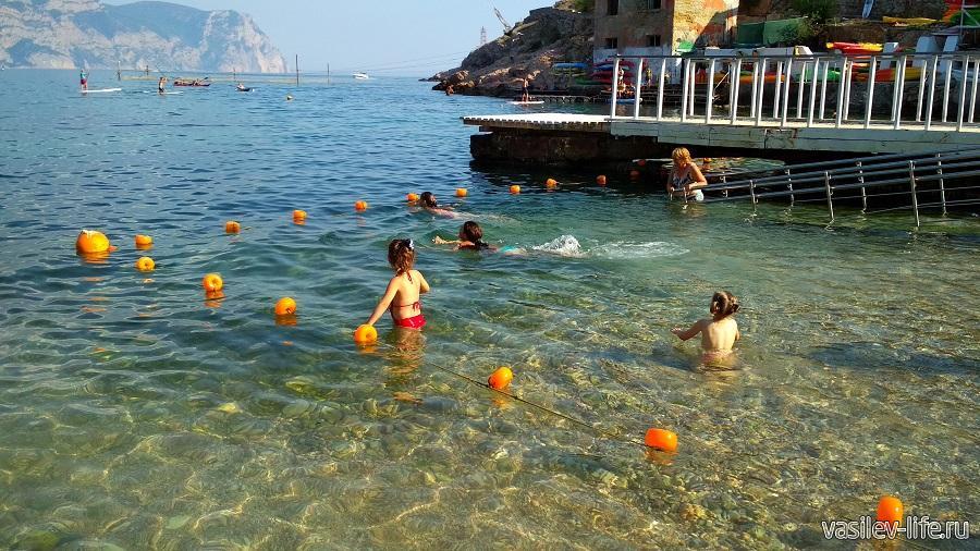 Зона для купания детей