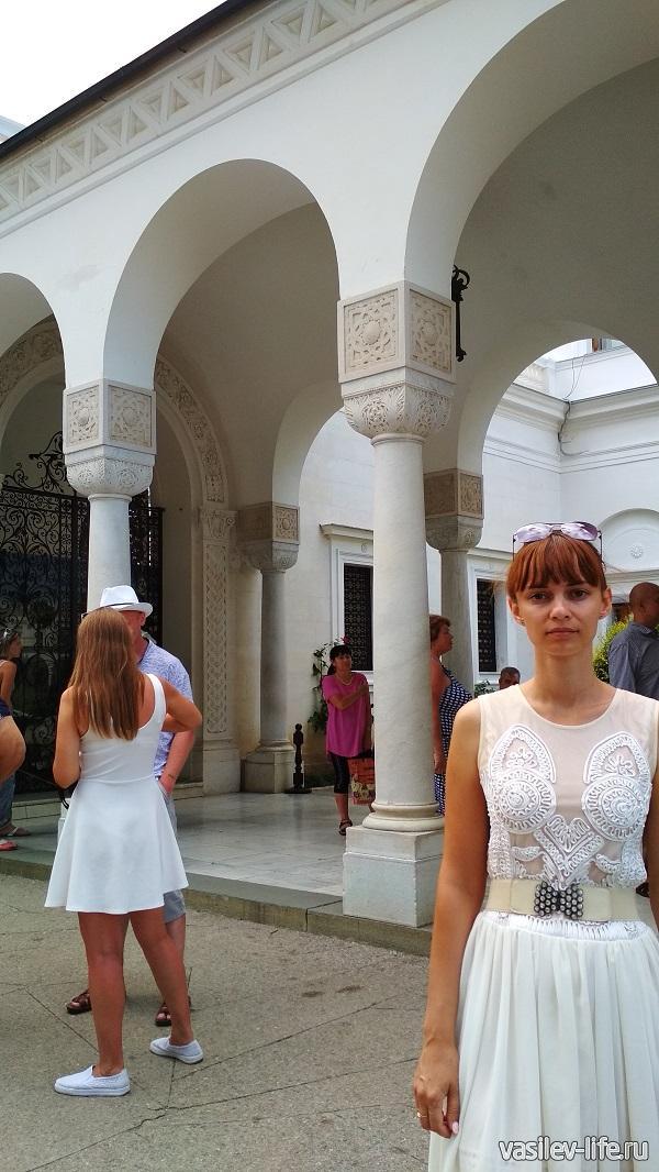 Ливадийский дворец, моя жена Ульяна