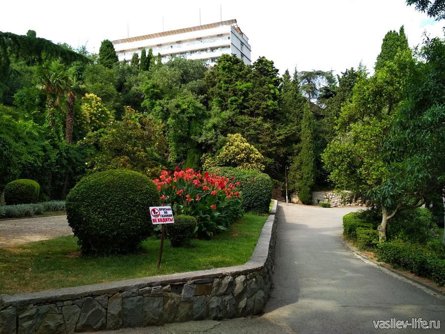 Мисхорский парк в Кореизе