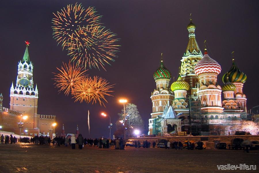 Москва, Красная площадь, Новый год