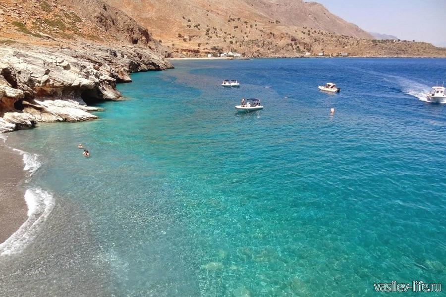 Мраморное море в Турции в августе