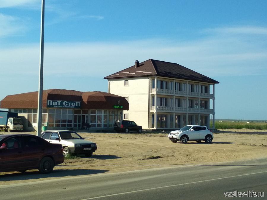 Напротив пляжа строятся гостиницы