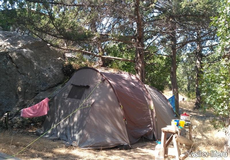 Наш палаточный лагерь