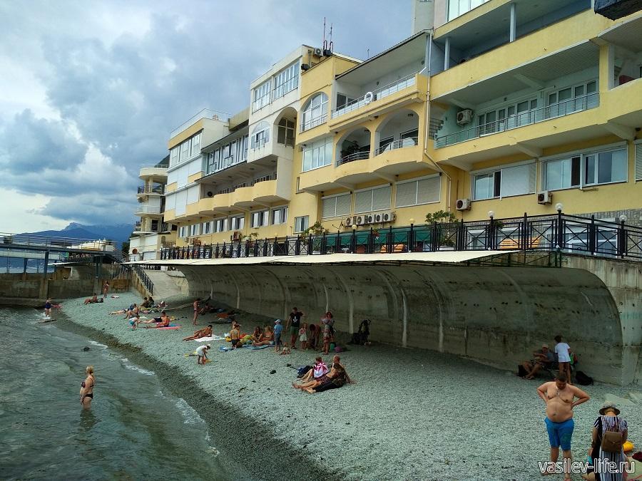 Никитский пляж в районе гостевого дома Сон у моря (2)