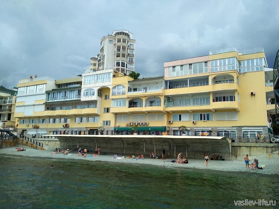Никитский пляж в районе гостевого дома Сон у моря (3)