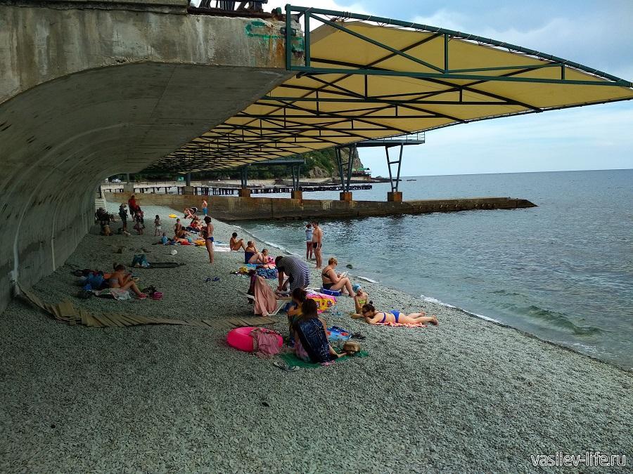 Никитский пляж в районе гостевого дома Сон у моря (5)