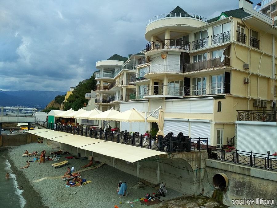 Никитский пляж в районе гостевого дома Сон у моря (7)