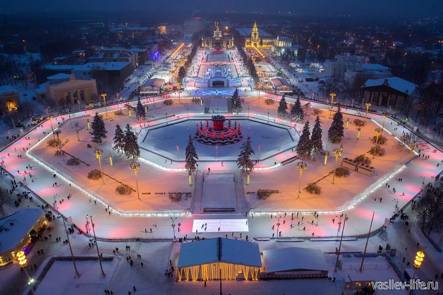 Новогодняя Москва, ледовый каток
