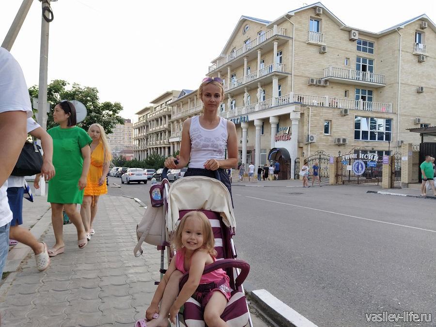 Отдыхаем с Даринкой в Витязево
