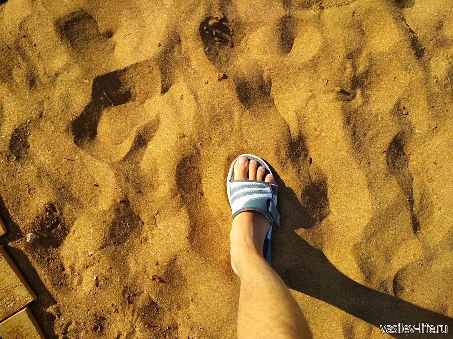 Песок как будто просеян
