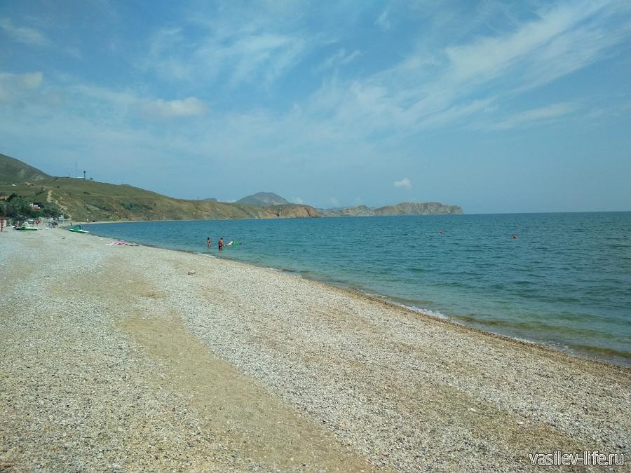 Пляжи Коктебеля