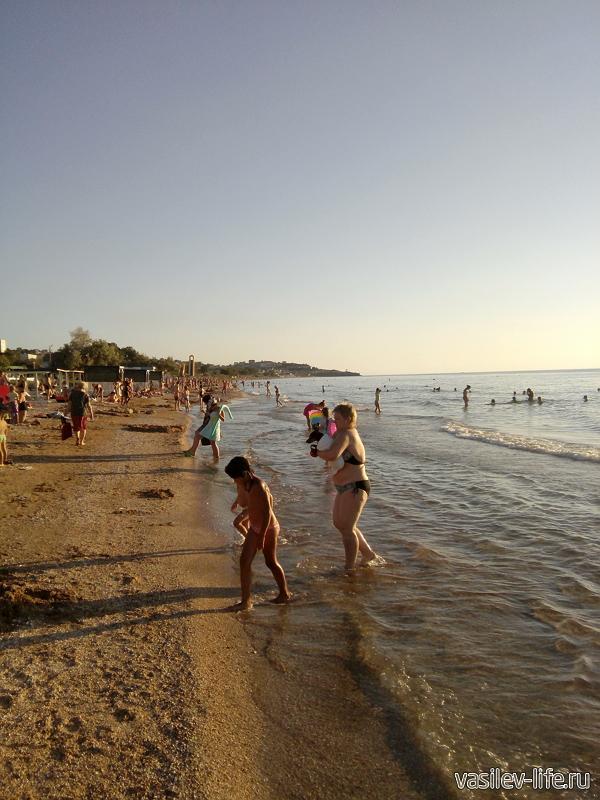 Пляжи в Щелкино
