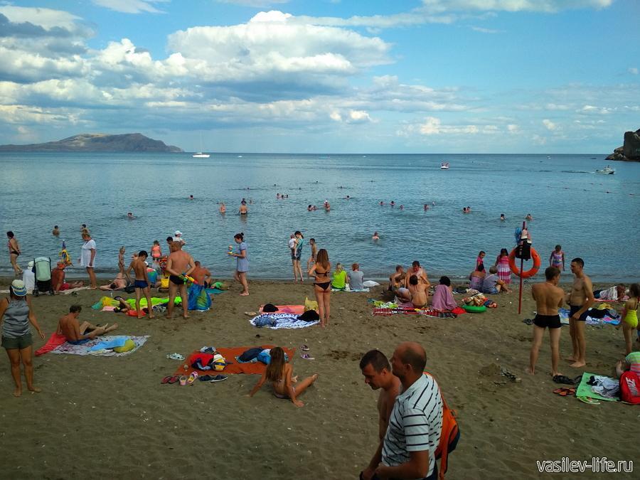 Пляжи поселка Новый Свет