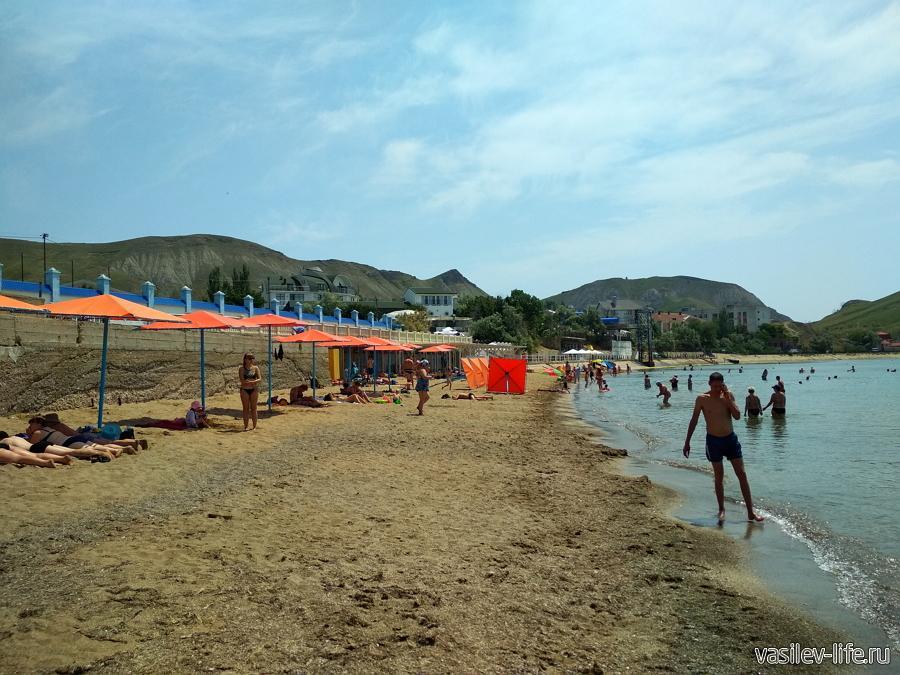 Пляжи поселка Орджоникидзе