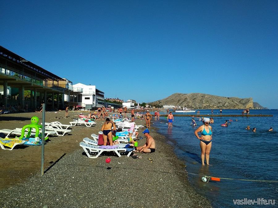 Пляж «Арзы» в Судаке (6)