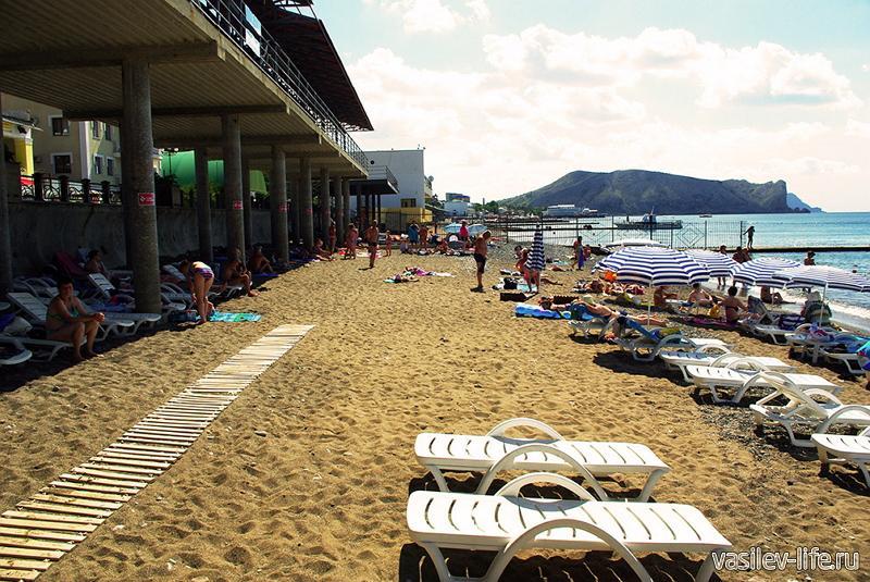 Пляж «Горизонт», Судак