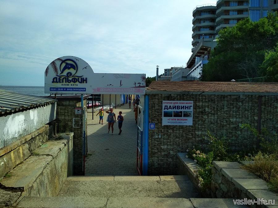 Пляж «Дельфин» в Ялте (11)