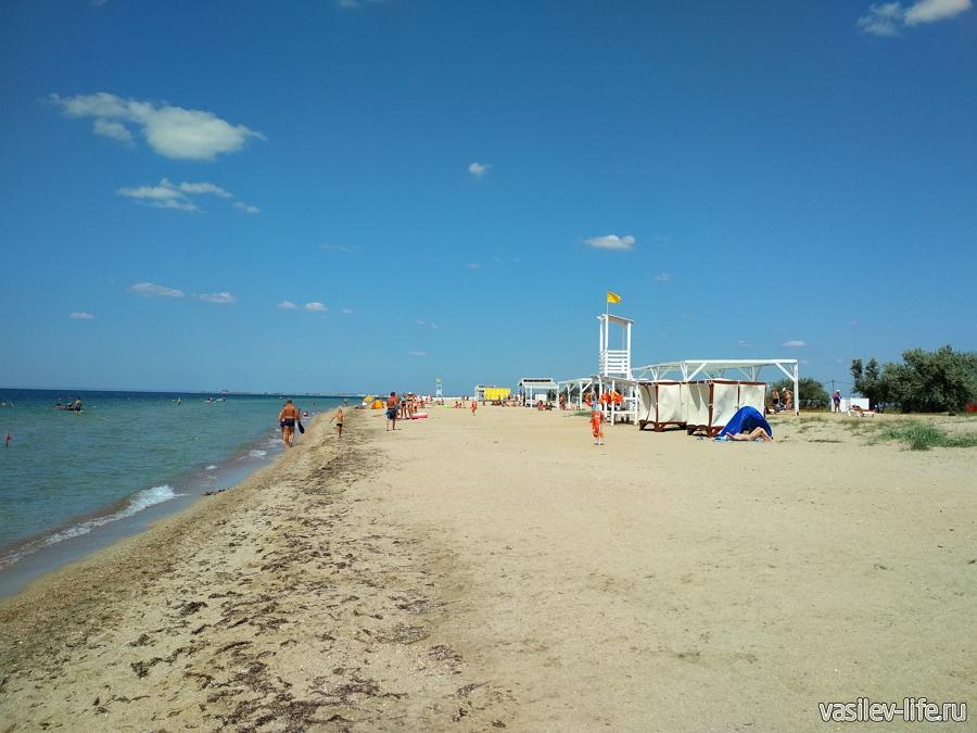 Пляж «Ласковый берег» Крым, с. Витино
