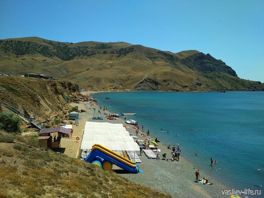 Пляж «Меганом» (рядом с Судаком)