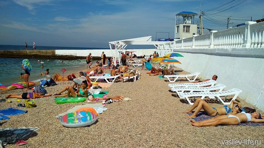 Пляж «Парка Победы» в Севастополе
