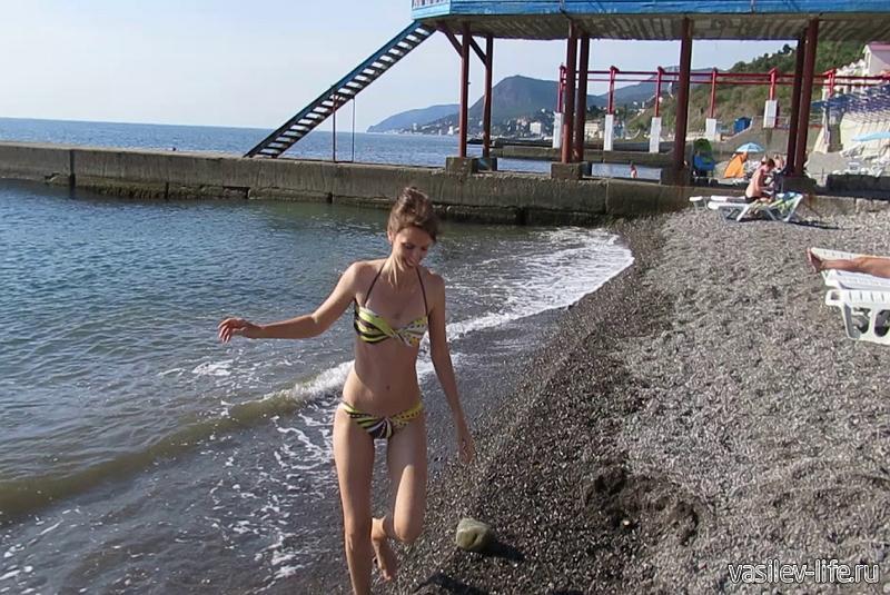 Пляж «У Набережной», Алушта