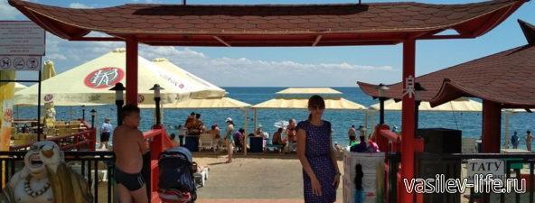 Пляж Банзай в Феодосии