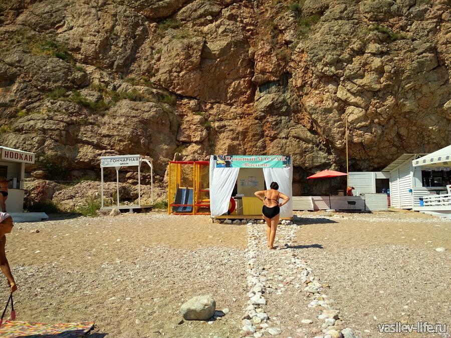 Пляж Васили в Балаклаве