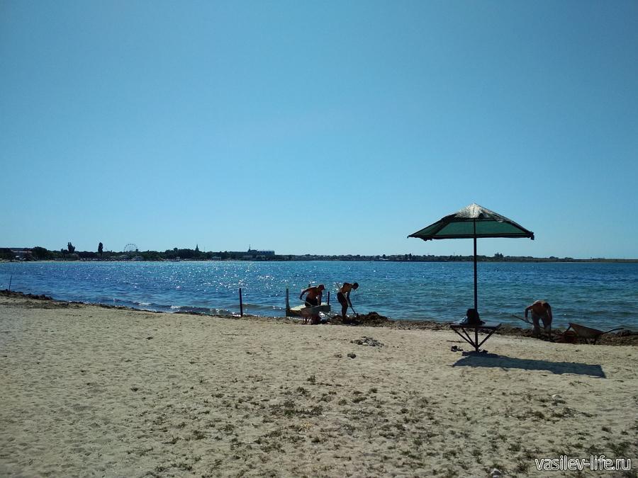 Пляж Гусиный в Черноморске