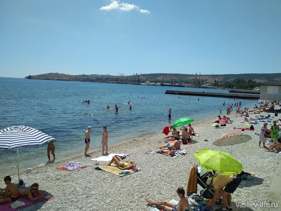 Пляж Камешки в Феодосии 2
