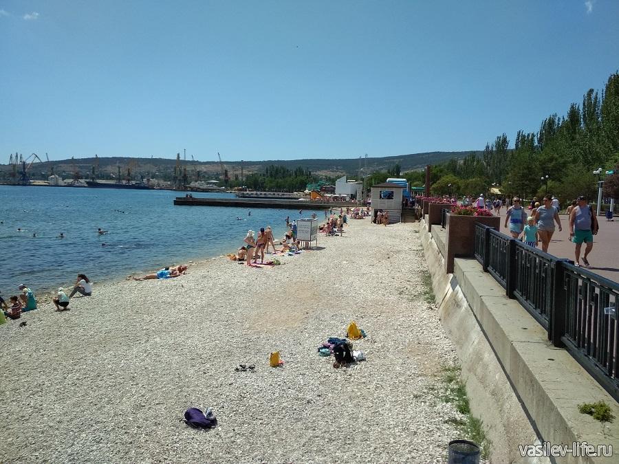 Пляж Камешки в Феодосии 4