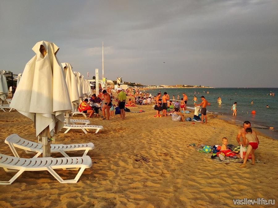 """Пляж """"Супер Аква"""" в Заозерном"""