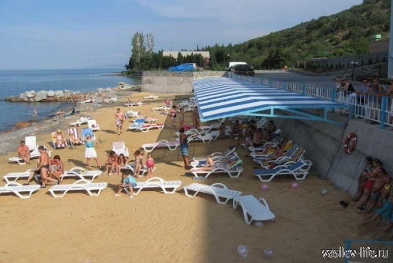 Пляж в Семидворье
