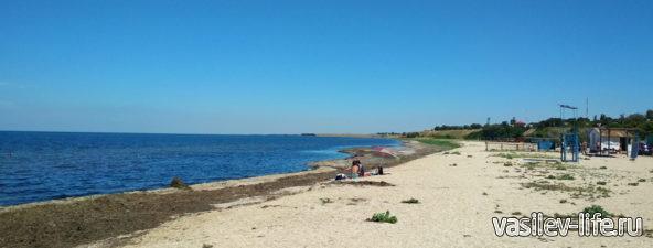 Пляж в Стерегущем (Крым)