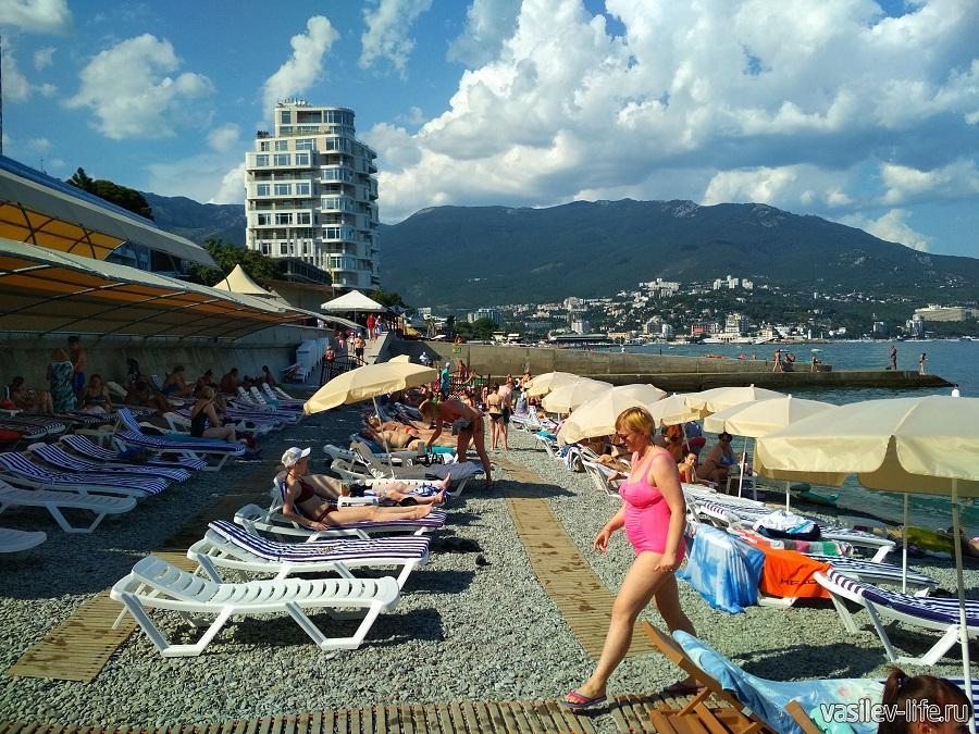 Пляж отеля «Левант», Ялта