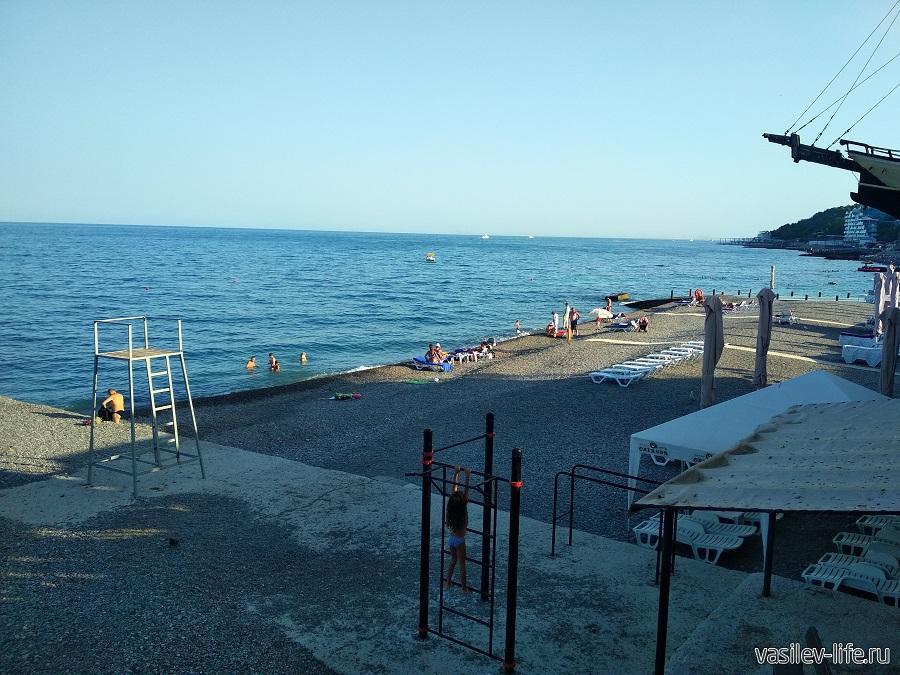 Пляж отеля «Ореанда» в Ялте (2)