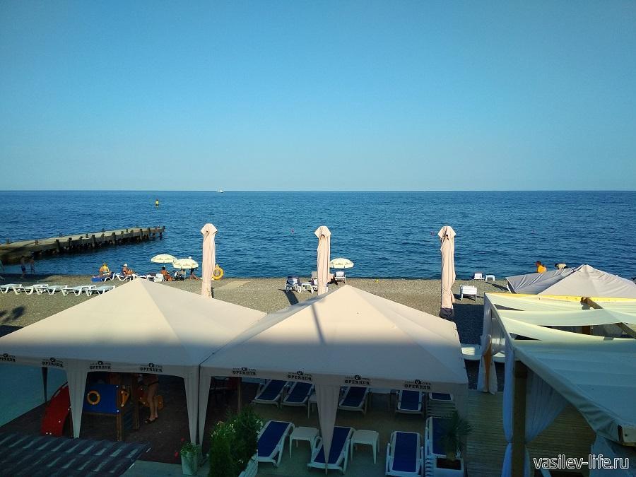 Пляж отеля «Ореанда» в Ялте