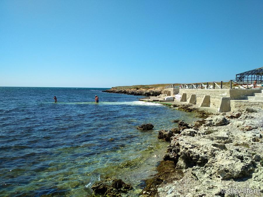 Пляж отеля Новый океан в Черноморском