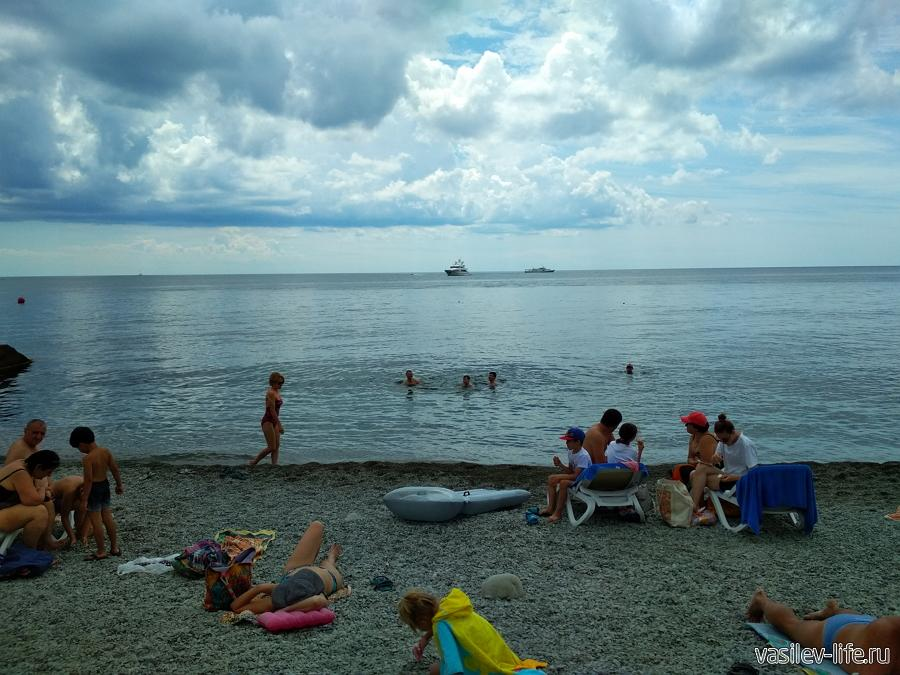 Пляж отеля Ялта Интурист