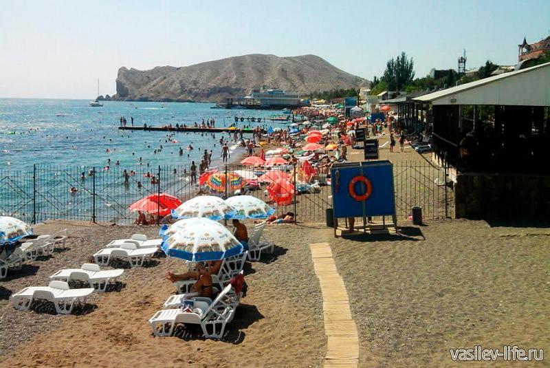 Пляж пансионата «Звездный»