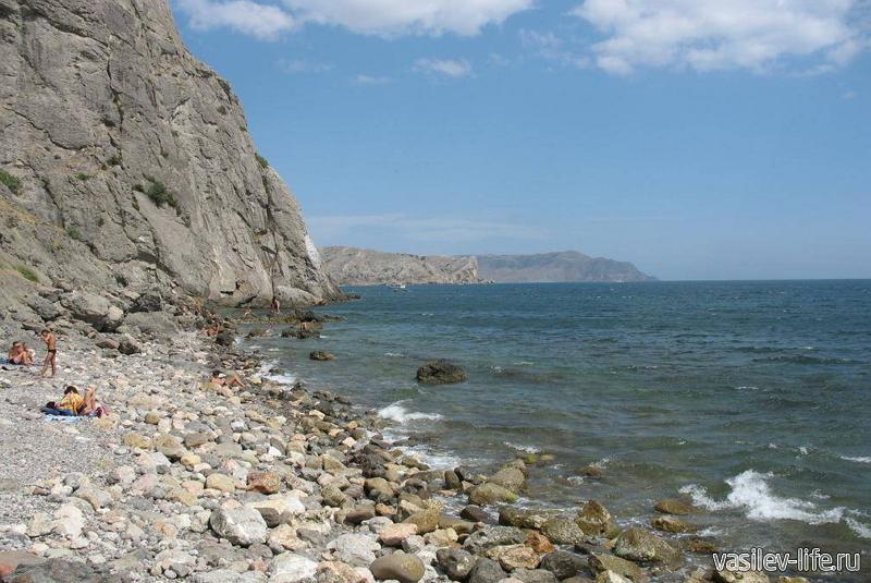 Пляж под Крепостной горой