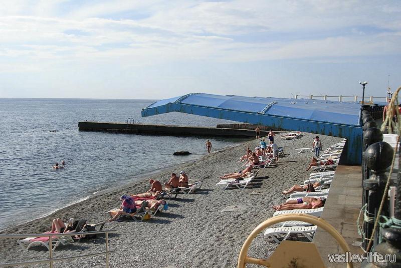 Пляж санатория «Ай-Даниль», Ялта